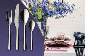 £8.99 instead of £12.90 for a four-piece Villeroy & Boch stainless steel cutlery set from Wowcher Direct - choose from two designs and save 30%