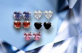 £3 instead of £19.99 (from Romatco) for a pair of heart stud earrings made with Swarovski Elements in a choice of 5 colours, or £10 for a set of all 5 - save up to 85%