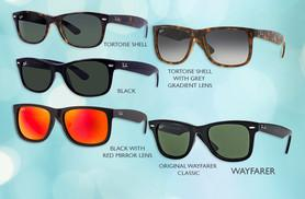From £60 instead of up to £108 for a pair of Ray-Ban sunglasses - choose from 13 styles including Wayfarers and Aviators and save up to 43%