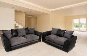 £349 (from Abakus Direct) for a Dylan two and three-seater sofa set - choose from two designs!