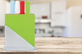 £9.99 instead of £29.99 (from Zoozio) for a five-piece colour-coded chopping board set - save 67%