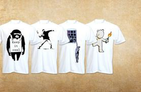 £6 (from Bang Tidy Clothing) for one Banksy T-shirt, £11 for two T-shirts or £26 for five T-shirts -  save up to 45%
