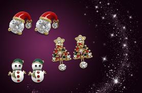 £6 (from Jewelian) for a pair of snowman, Christmas tree or Santa earrings, or £15 for all three - save up to 80%