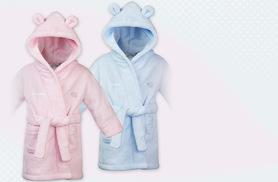 £12 instead of £24.99 (from Treats on Trend) for a children's personalised robe - choose from pink or blue and save 52%