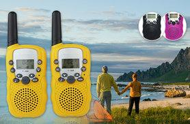 £16.99 instead of £39.99 for a pair of 22-channel walkie talkies in black, pink or yellow - save 54%