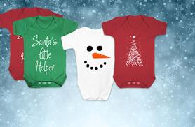 £6.99 (from Bang Tidy Clothing) for a Christmas baby grow - choose from 17 designs!