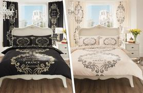 £12.99 instead of £49.99 (from Groundlevel) for a Paris print single duvet set, £14.99 for a double, £16.99 for a king or £18.99 for a superking - save up to 74%