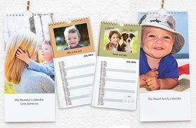 £5 instead of £11.99 (from Truprint) for a personalised photo wall calendar - display your favourite photos and save 58%