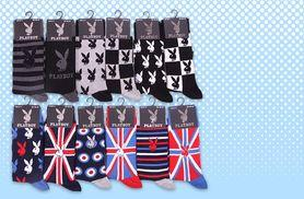 £5 instead of £20.39 for three pairs of men's official Playboy design socks - save 75%