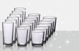 £9.99 instead of £36 for an 18-piece glassware set, £18.99 for a 36-piece set - raise your glasses and save up to 72%