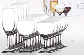 £9.99 instead of £49.99 for an eighteen piece wine glass set - save 80% off