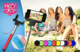 £5.99 instead of £39.99 (from Planet of Accessories) for an all-in-one selfie stick with cable connection - choose from 10 colours and save 85%