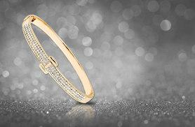 £8 instead of £49.99 (from Marcus Emporium) for a gold-plated bangle made with Swarovski Elements - save 84%