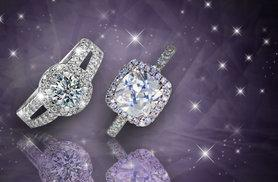 £8 instead of £49.99 (from Marcus Emporium) for an 18ct white gold plated solitaire ring made with Swarovski Elements - choose between two styles and save 84%