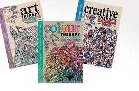 £6.99 instead of £12.99 for a choice of three hardback 'anti-stress' Art Therapy adult colouring book, or £17.99 for all three - save up to 46%