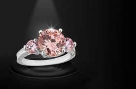£34.99 instead of £279 (from Your Ideal Gift) for a 2.5ct brilliant-cut pink sapphire ring - save 87%