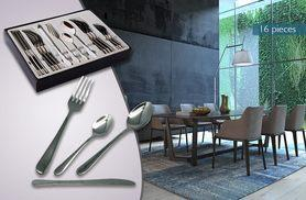 £5.99 instead of £21 (from Zoozio) for a 16-piece stainless steel cutlery set, £10.99 for a 32-piece set or £14.99 for a 40-piece set - save up to 71%