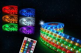 £14.99 instead of £39.99 (from Chimp Electronics) for a remote-controlled 5-metre LED strip light - add some Christmas sparkle and save 63%