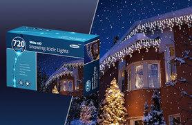 £19 (from Zoozio) for 240 white LED snowing icicle lights, £24 for 360, £32 for 480 or £42 for 720 - save up to 46%