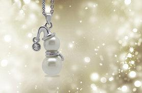 £8 instead of £40 (from Jewelian) for a pearl snowman necklace - save 80%