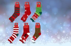 £5 instead of £19.99 (from Urshu) for three pairs of festive slipper socks - save 75%