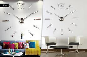 £16 instead of £39.99 for a sticker wall clock - choose from three colours and save 60%