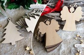 £3.99 instead of £14.99 (from E-Smartshop) for a set of ten wooden Christmas tree decorations - choose from six designs and save 73%