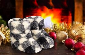 £8.99 instead of £29.99 (from UK Stock) for a pair of wool slipper boots  - treat your feet this winter and save 70%