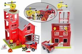 £39.99 instead of £59.95 (from Toyz World) for a Butternut wooden fire station toy - save a snazzy 33%