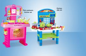 £14.99 instead of up to £44.99 (from Zoozio) for a kids' kitchen play set with toy accessories - choose from two designs and save up to 56%