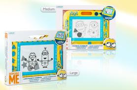 £6.99 instead of £17.99 (from Treat for Kids) for a medium Minion magnetic drawing scribbler pad, or £9.99 for a large Minion scribbler pad - save up to 61%