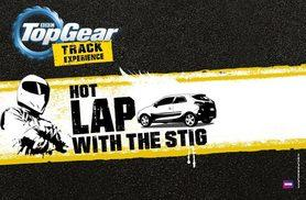 £99 for a BBC Top Gear 'Hot Lap with The Stig' experience and studio access with Top Gear Track Experience, Guildford!