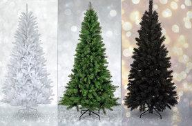 £16.99 instead of £51 (from UK Home and Garden Store) for a six-foot artificial Christmas tree - choose green, black or white and save 67%