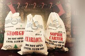 £6.99 instead of £20 (from Treats on Trend) for a personalised Santa Christmas sack, £12 for two - save up to 65%