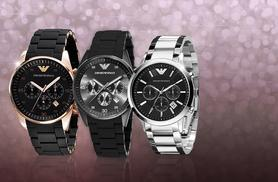 £149 instead of up to £389 for a men's Emporio Armani watch - choose between three designs and save up to 62%