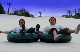 £9 for a 30-minute sno-tubing and tobogganing session for two people, £18 for four people at Swadlincote Ski Slope & Snowboard Centre, Derby - save up to 55%