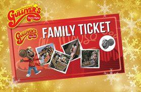 £35 instead of up to £64 for a family gift ticket to any Gulliver's Theme Park in a choice of three locations - have a grand day out and save up to 45%