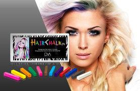£5 instead of £32 (from DVA Beautique) for a pack of colourful 12 Hair ChalkIn hair chalks - be bold and save 84%