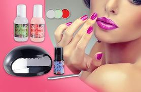 £12 instead of £86 for a One Step professional UV gel nail kit with one colour, £18 with three colours - save up to 86%