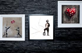 £9 instead of £69 (from ARTF.LY) for a framed 25cm x 25cm Banksy print, £15 for a framed 38cm x 38cm Banksy print - choose from 64 designs and save up to 87%