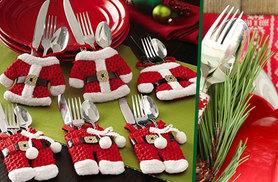 £4.99 instead of £14.99 (from E-Smartshop) for a set of four Santa Claus cutlery socks, £8.99 for eight or 12 or £14.99 for 16 - save up to 67%