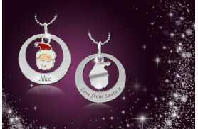 £6 instead of £50 (from Cian Jewels) for a personalised 'Love from Santa' necklace made with Swarovski Elements - save 88%