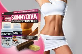 £20 (from Skinny Diva) for 10-meal replacement bars, 'detox' green tea capsules and Glucomannan capsules, plus 30 slimming patches - save 75%