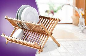 £7 instead of £14.99 (from SS Superstore) for a foldable wooden kitchen sink dish drainer - save 53%