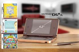 £69 instead of £89.29 for a dark brown Nintendo DSi XL with three games from Wowcher Direct - save 23%
