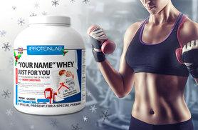 £29 instead of £79.99 (from The Protein Lab) for 2.25kg of whey protein powder - personalise with a photo and name and save 64%