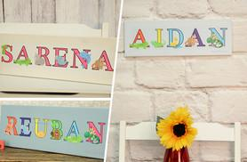 "£8 (from Your Perfect Canvas) for a 24"" x 8"" children's animal name canvas, £13 for 30"" x 10"" or £18 for 36"" x 12"" - save up to 85%"