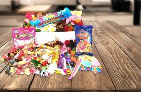£11.99 (from Chewbz) for a 1.5kg retro sweet hamper containing over 40 varieties