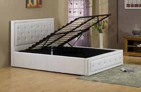£159 for a double Hollywood diamante ottoman storage bed, £169 for a king size bed from Wowcher Direct