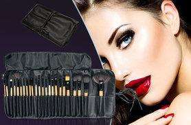 £9.99 instead of £49.99 (from SalonBoxed) for a 24-piece professional makeup brush set with PU leather case - save 80%
